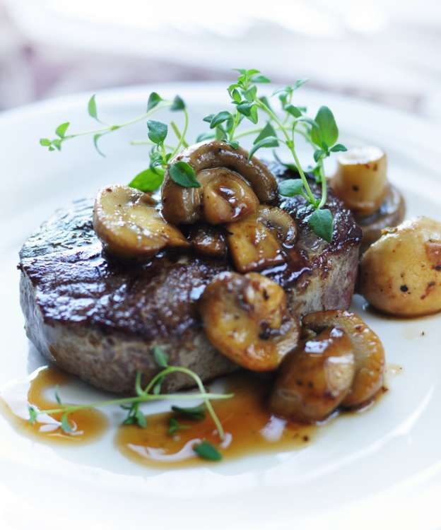 Mushrooms with Steak