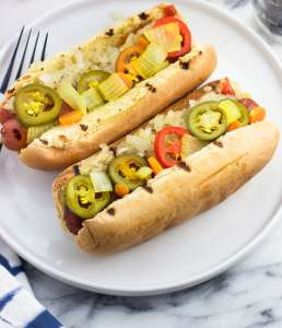 Jalapeno and Carrot Hot Dog
