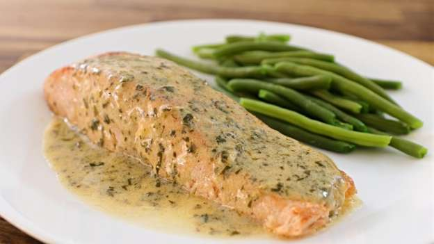 Dilly Beans with Salmon